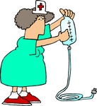 0012-0710-0509-2041_female_nurse_in_a_green_uniform_preparing_intravenous_drip_iv_medicine_for_a_patient_in_a_hospital_clipart
